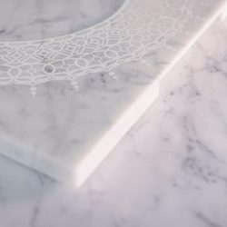 Venti20 White Carrara Marble Plate